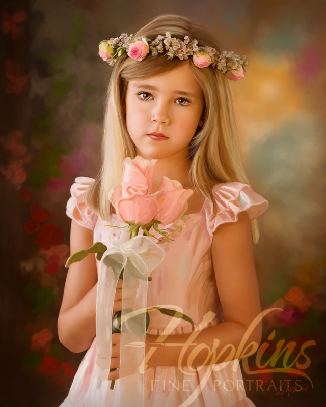 Beautiful Little Girl - Hopkins Fine Portraits Blog-4107